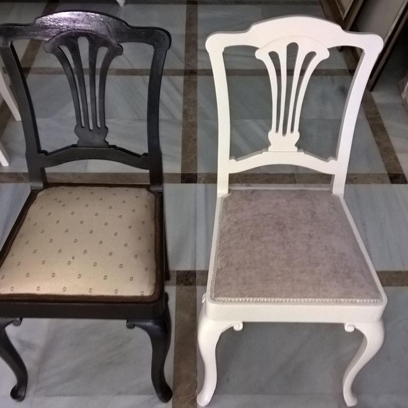 Lacado y tapizado de silla