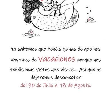 Nos Vamos de Vacaciones !!!!