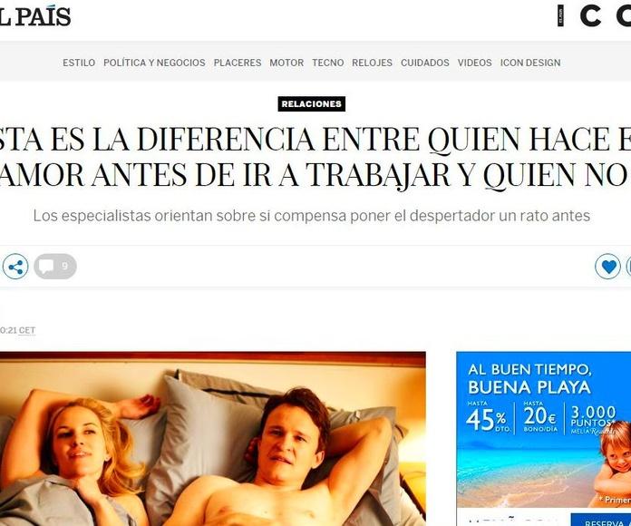 Nueva colaboración con El País,  Y la Revista Icon