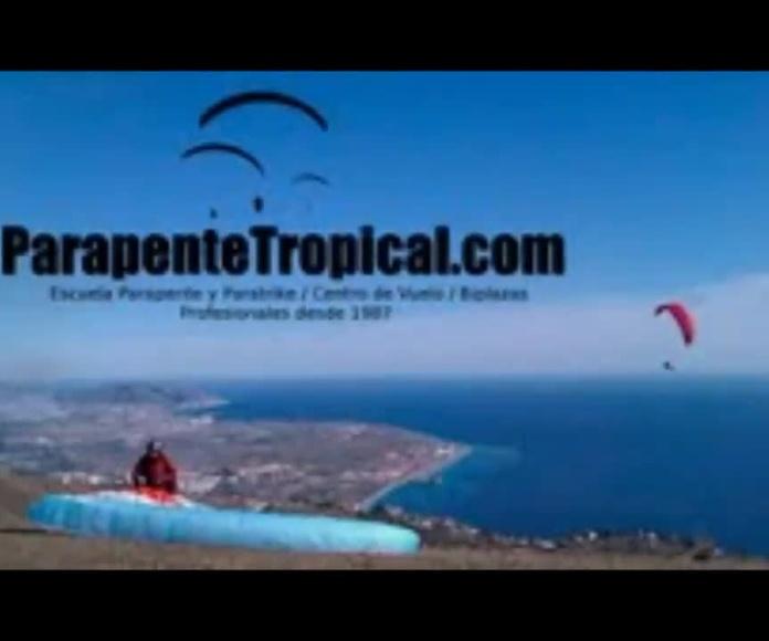 Terapia con vuelo en parapente
