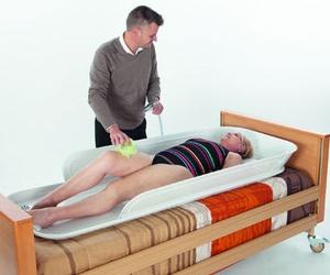 Bañera para utilizar en cama