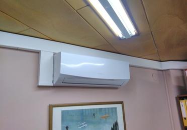 Obras realizadas de aire acondicionado /  Oficinas de Virgen del Camino