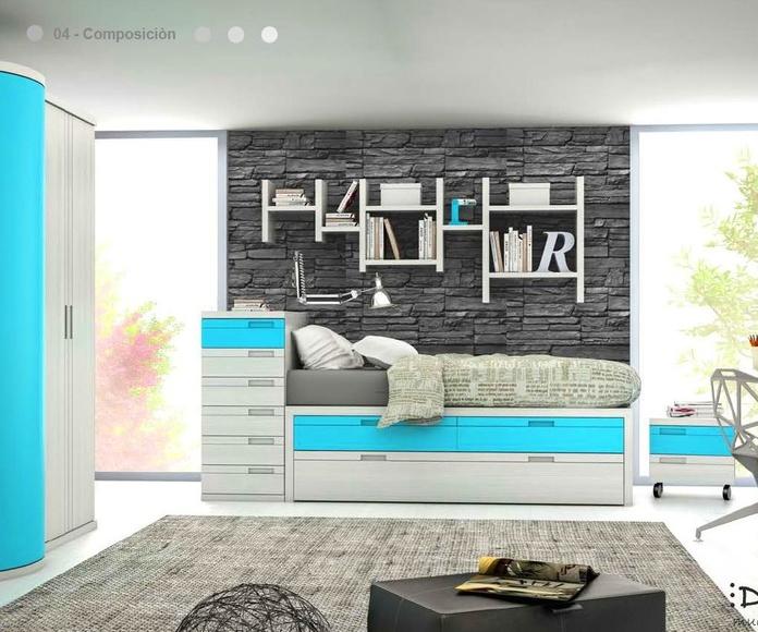 Dormitorio juvenil composición 04