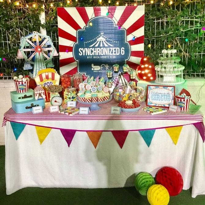 Decoración personalizada con vinilos en fiestas infantiles