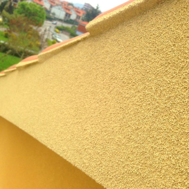 Excelentes acabados de fachadas con corcho proyectado Cantabria-Santander