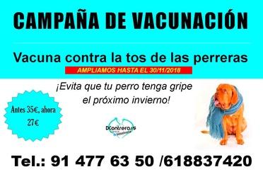 AMPLIAMOS CAMPAÑA DE TOS DE LAS PERRERAS HASTA EL 30/11