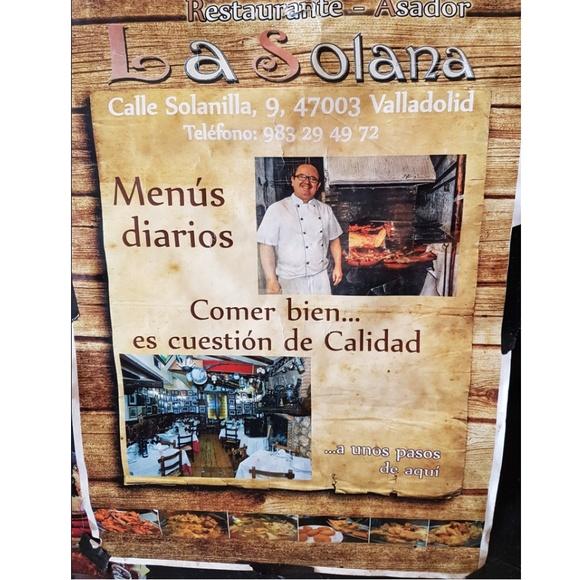 Menú del día: Carta y menú de Restaurante Asador La Solana