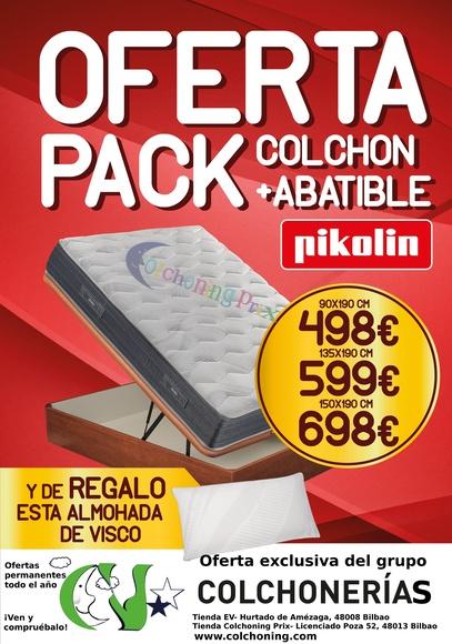 EV Colchonerías:Oferta pack colchón y canapé Pikolin 50% dto.
