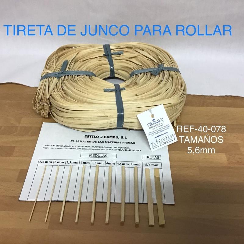 Tireta de junco para rollar. Estilo Bambú 2 S.L. Madrid