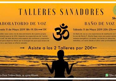 Talleres Sanadores: Laboratorio de Voz y Baño de Voz.