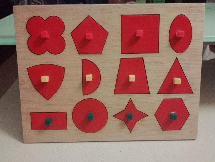 Descomposición formas geométricas (Educaciíon Montesori)