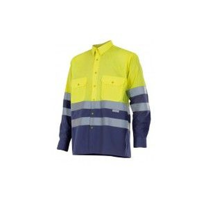 Serie 144 / Camisa bicolor manga larga alta visibilidad: Nuestros productos  de ProlaborMadrid