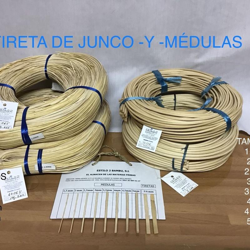 Tireta de junco y médula. Estilo 2 Bambú S.L. Madrid