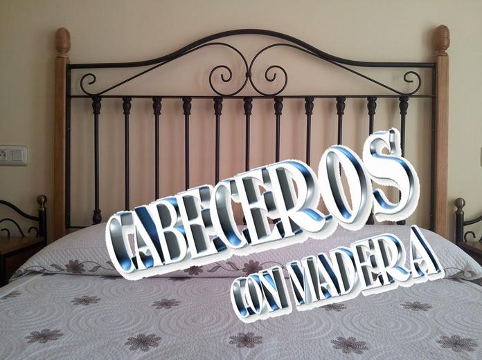 CABECEROS CON MADERA: Catálogo de muebles de forja de Forja Manuel Jiménez