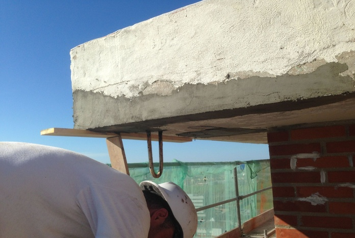 Trataniento estructural del hormigón en aleros Santander-Torrelavega