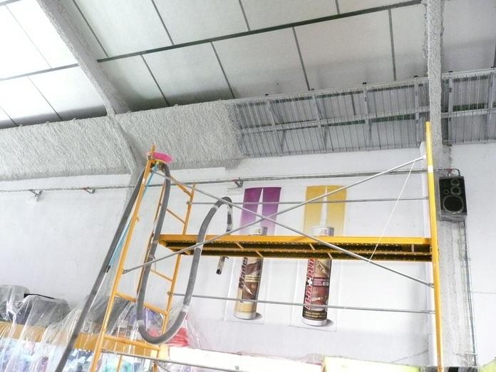 Protección ignifuga de estructura metalica y franja perimetral en Madrid