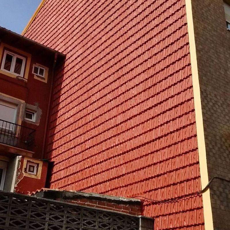 Fachadas de tejas.