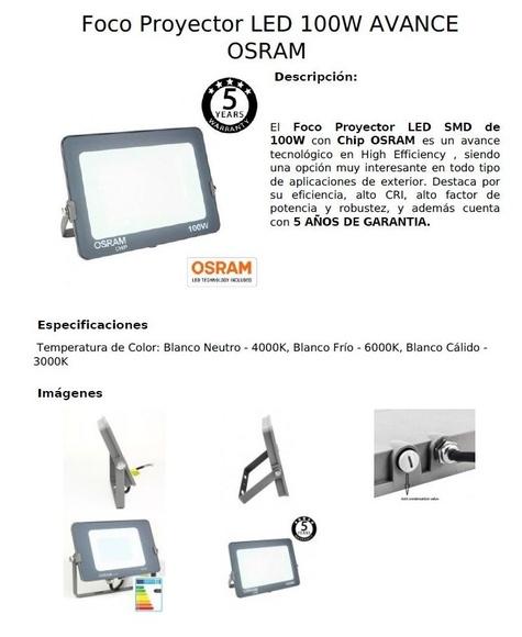 Proyectores OSRAM: Productos de Centro Led Almería