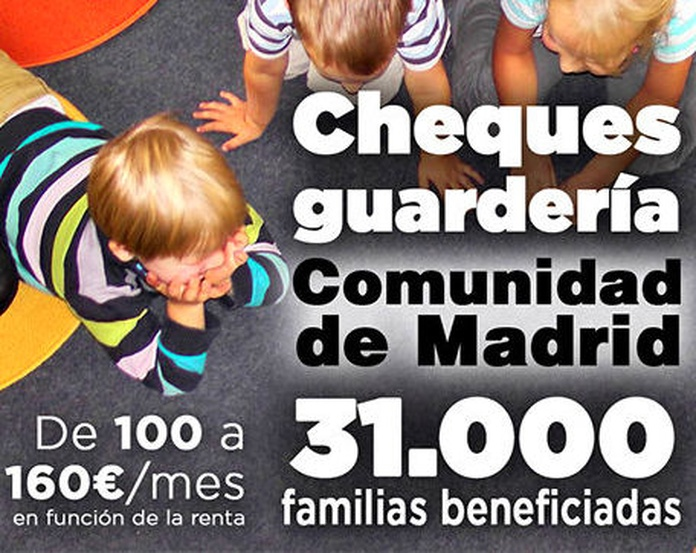 CHEQUE GUARDERÍA CURSO 2018-2019