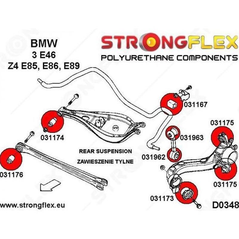 Strongflex - 031173B - Brazo trasero BMW E36 / E46: Servicios y Productos de Sirius Tuning