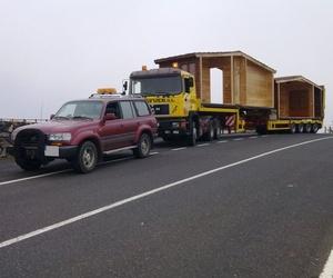 Transporte especial de casas modulares en Fuerteventura