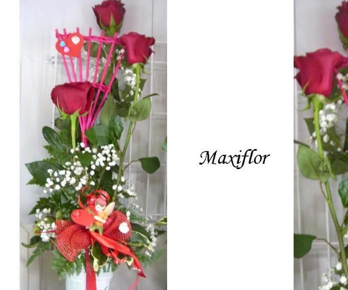 Composiciones con base: Catálogo  de Floristería Maxiflor