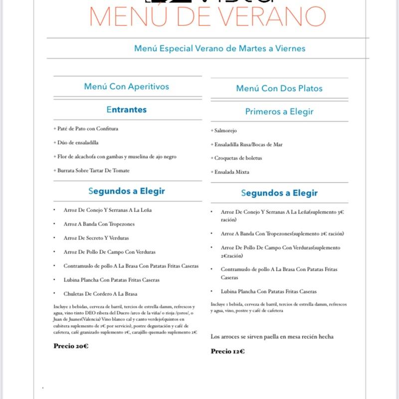 Menú Diario de Verano lunes 12 al viernes 16 de julio: Carta, Menús y Bodega de Restaurante Bonavista (Club de Campo Elche)