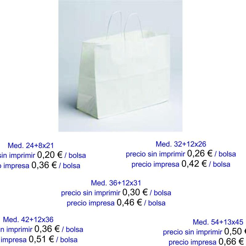 Bolsas de asa retorcida - Modelo Mar: Productos de Bolsagrafic