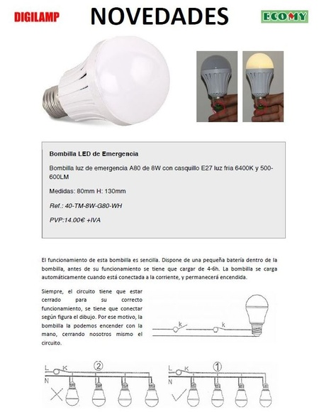 Lampara led emergencia: Productos de Centro Led Almería