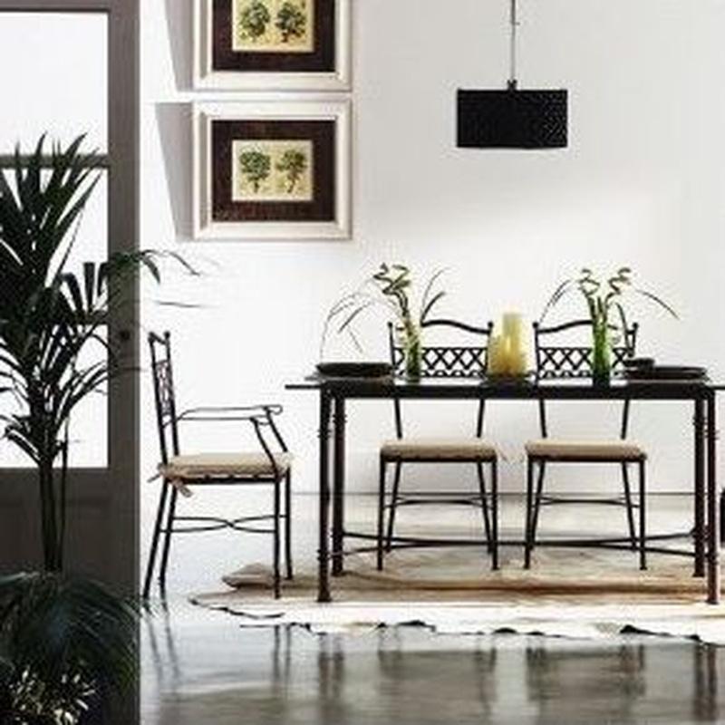Muebles de forja: salón comedor en hierro forjado: Productos de Arteforja JMC