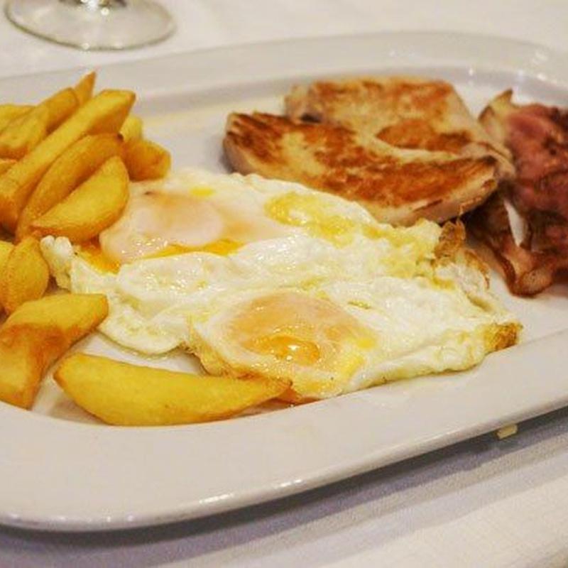 Rest. La Fonda del Port Olimpic. Ofertas desayunos y dulces desayunos: Menús restaurantes of Grupo Silvestre