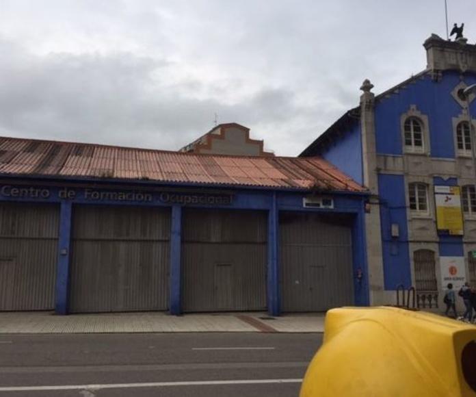 Exconar retirará la cubierta del Centro de Formación Ocupacional de Avilés.