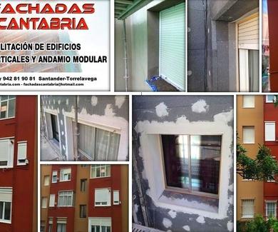 Revestimiento térmico de fachadas en edificios de Santander.