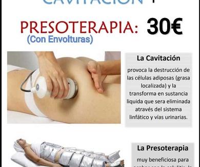 Oferta cavitación + presoterapia