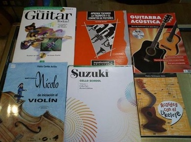 Libros, métodos ,partituras,