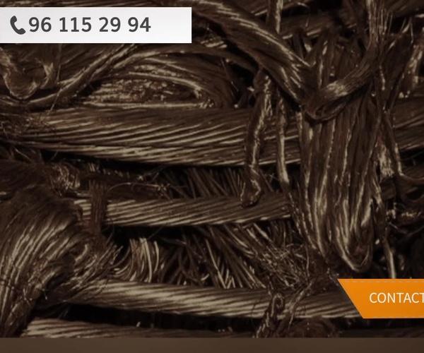 Recuperación de cobre en Valencia - Hierros y Metales Pallardó