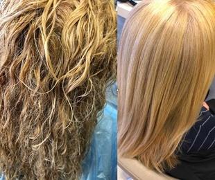 Taninoplastia blonde (cabellos rubios)