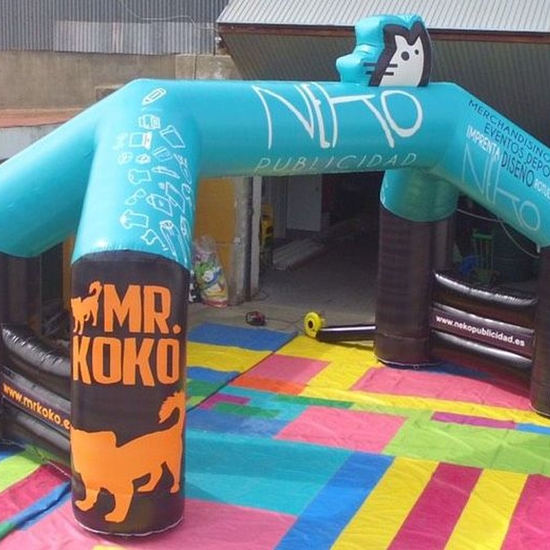 Arco de meta NEKO: Catálogo de Hinchables Happy Jump