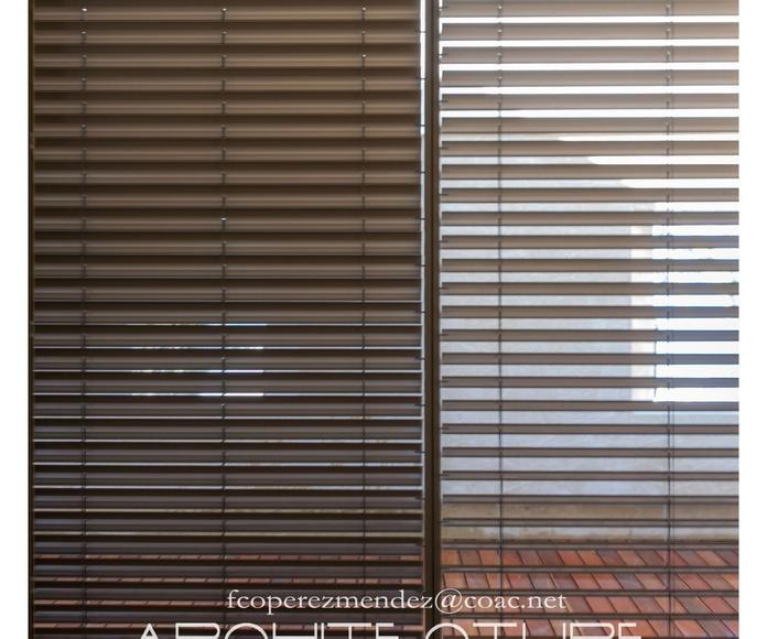 Cerramientos, con láminas orientables y graduables