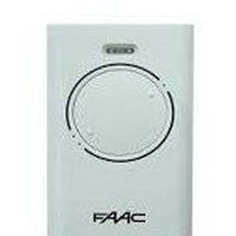 Mando FAAC, 2-4 botones, alta en garaje: Productos de Zapatería Ideal