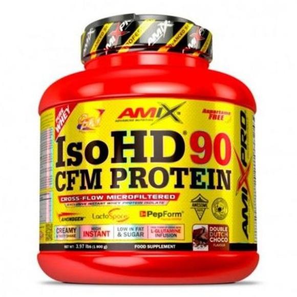 Amix® IsoHD® 90 CFM Protein es un nuevo y excelente complemento alimenticio compuesto de aislado de proteína de suero diseñado y desarrollado por Amix®. Como viene siendo habitual en el desarrollo de nuestros productos, Amix® usa las mejores materias prim