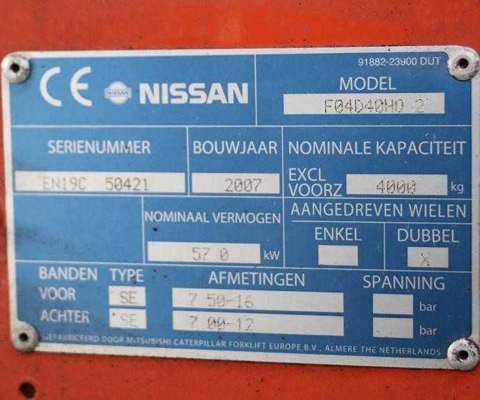 NISSAN F04D40HQ2: CATÁLOGO de HP Elevación