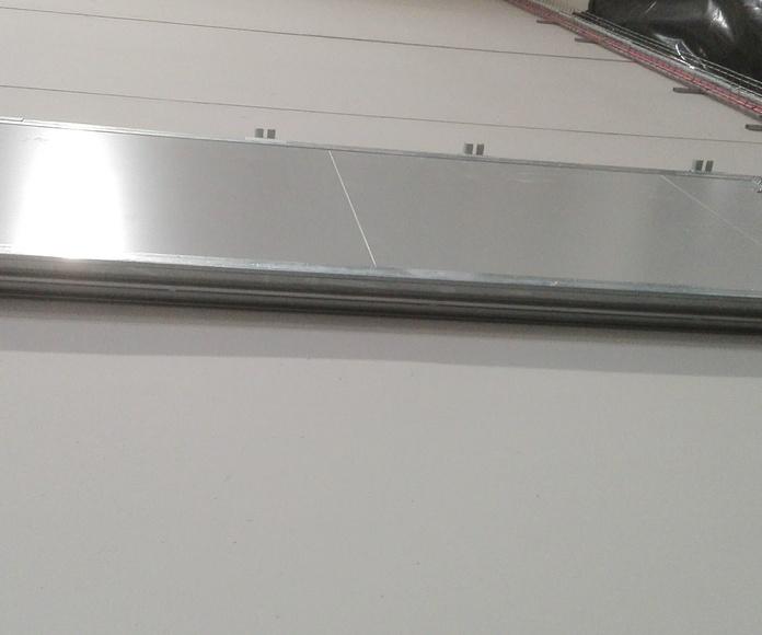 Puerta Corredera cortafuegos tipo ventana contrapeso en cierre EI2-60 enSantander