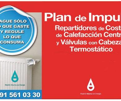 Plan de Impulso de Repartidores de Costes de Calefacción Central y Válvulas con Cabezal Termostático