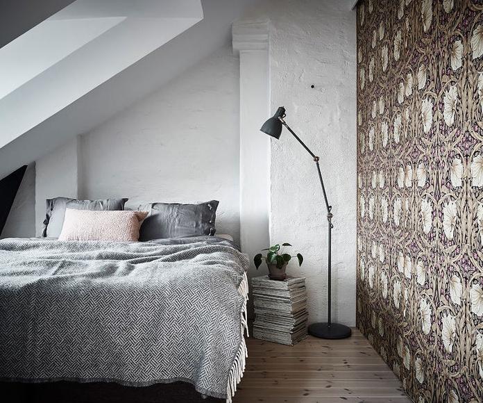 Dormitorio combinación papel