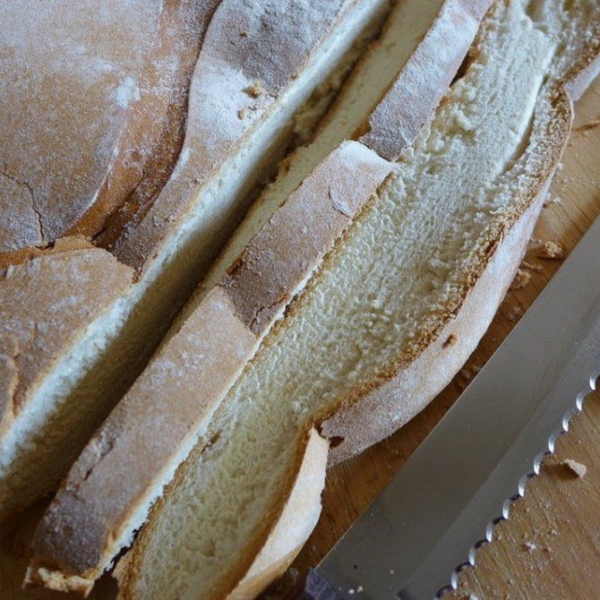 El cuchillo panero o de sierra para cortar pan