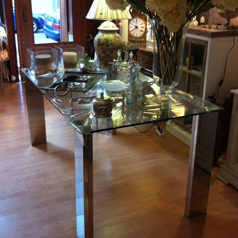Mesa de comedor de cristal y acero: Catálogo de Ste Odile Decoración