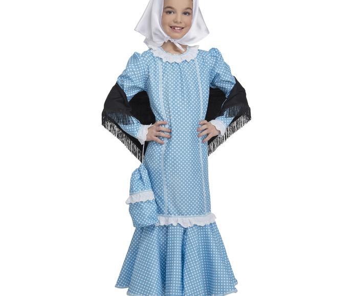 Disfraz chulapa madrileña niña