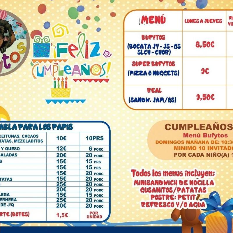 Fiestas de Cumpleaños: Servicios y Actividades de Bufytos