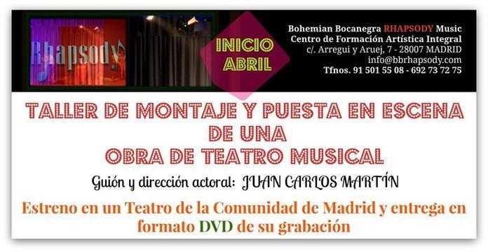 TALLER DE MOTAJE Y PUESTA EN ESCENA DE UNA OBRA MUSICAL